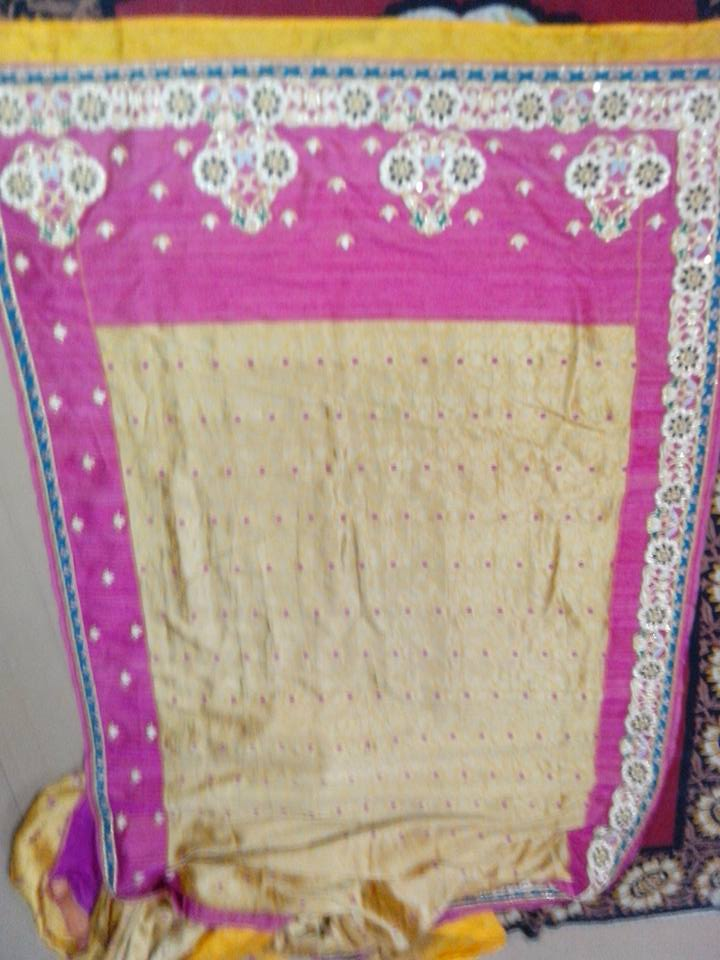 Kutchi work on south silk